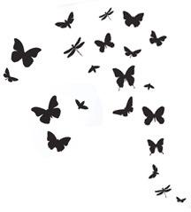 ferm LIVING Butterflies Black Wall Sticker