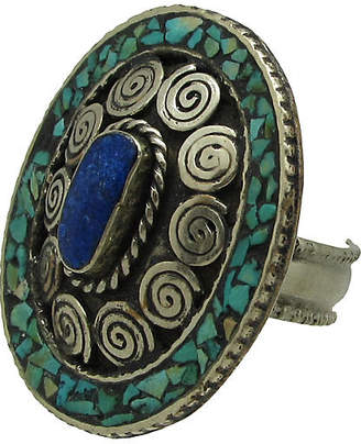 One Kings Lane Vintage Turquoise & Lapis Inlay Ring - Thanks for the Memories