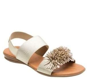 Andre Assous Niri Metallic Leather Sandals