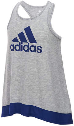 adidas Logo-Print Colorblocked Tank Top, Toddler Girls