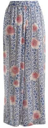 Weekend Max Mara - Taddeo Trousers - Womens - Blue Multi