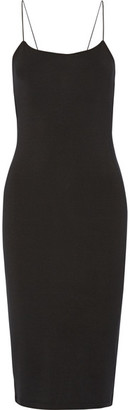 T by Alexander Wang - Cutout Stretch-modal Jersey Dress - Black $155 thestylecure.com