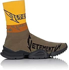 Vetements Men's Sock Runner Knit Sneakers - Olive, Ylw