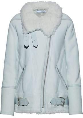 IRO Barrett Leather-Trimmed Shearling Jacket