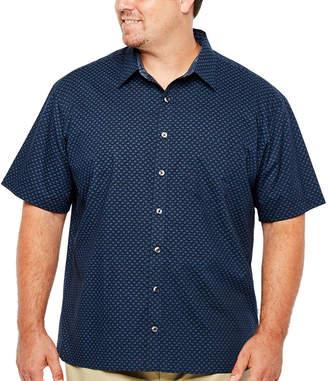 Van Heusen Short Sleeve Never Tuck - Big & Tall