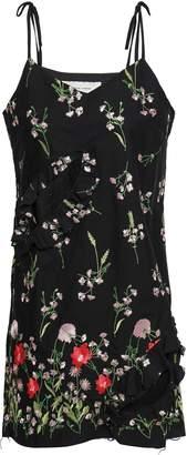 Marques Almeida Marques' Almeida Cutout Embroidered Cotton-blend Mini Dress