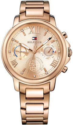Tommy Hilfiger Women's Sport Lux Rose Gold-Tone Stainless Steel Bracelet Watch 39mm 1781743 $195 thestylecure.com
