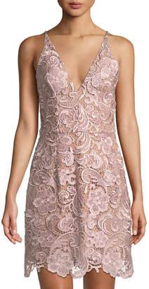 Dress the Population Allie V-Neck Crochet Lace Dress