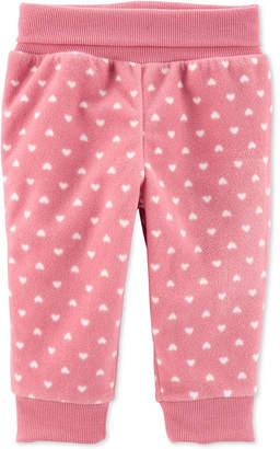 Carter's Carter Baby Girls Heart Pull-On Fleece Pants
