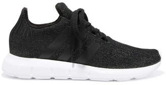 adidas Swift Run Glittered Primeknit Sneakers - Black