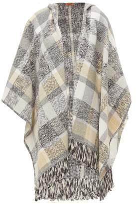 Missoni Checked Wool Blend Poncho - Womens - Grey Multi
