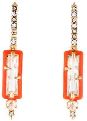 Alexis Bittar Crystal & Enamel Drop Earrings