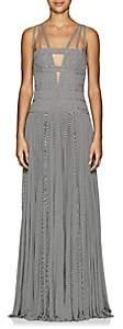 GIOVANNIBEDIN Women's Striped Jersey & Tulle Maxi Dress - Black