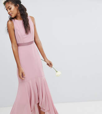TFNC Tall Maxi Bridesmaid Dress With High Low Hem