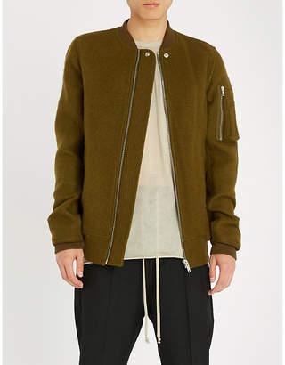 Rick Owens Textured wool bomber jacket