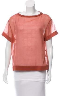 Brunello Cucinelli Layered Silk-Blend Top