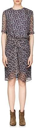 Etoile Isabel Marant Women's Barden Floral Silk Chiffon Dress - Blue