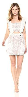 For Love & Lemons Women's Tati Pinafore Lace Dress
