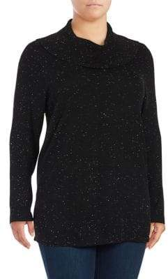 Calvin Klein Plus Cowlneck Long-Sleeve Sweater