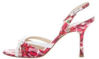 Jimmy Choo Silk Slingback Sandals