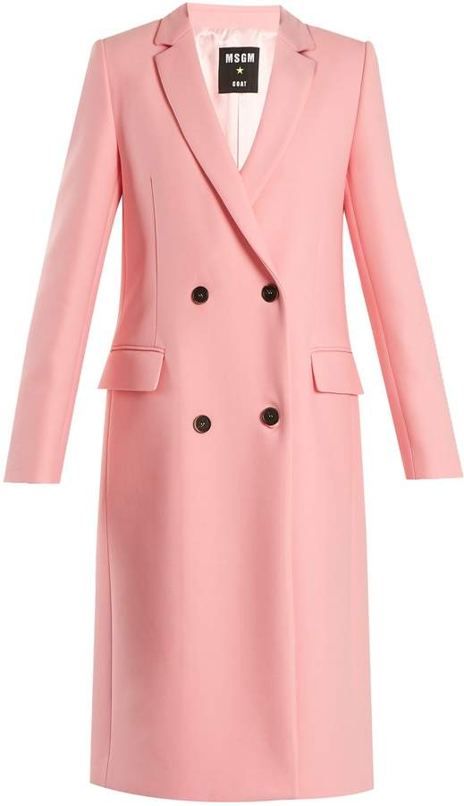 MSGM Double-breasted wool-blend coat