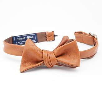 Blade + Blue Natural Tan Leather Bow Tie