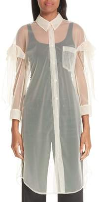 Simone Rocha Ruffled Tulle Shirtdress
