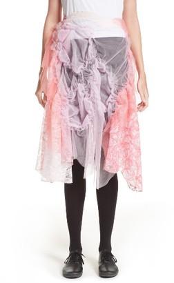 Women's Tricot Comme Des Garcons Raschel Tulle & Lace Skirt $1,270 thestylecure.com