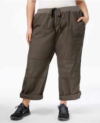 Calvin Klein Plus Size Roll-Tab Cargo Pants