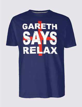 Marks and Spencer Gareth Says Relax England T-Shirt
