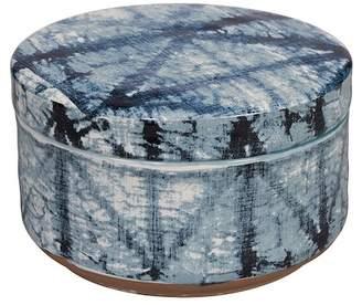 Creative Bath Blue Tones Shibori Jar
