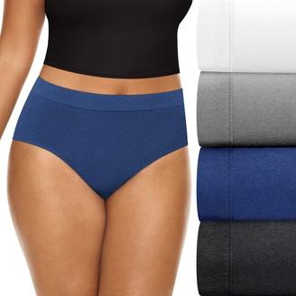 Playtex Women's 4-pack ComfortSoft Brief Panties PLCSBF