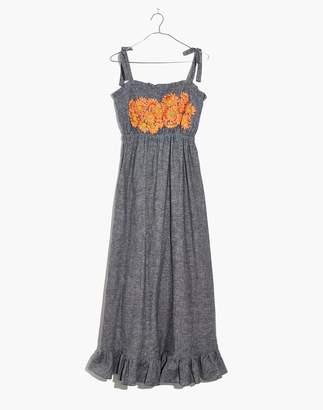 Madewell Innika Choo Daisy Embroidered Avens Midi Dress