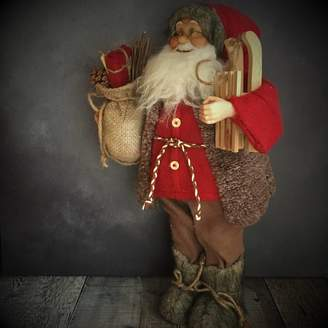 The Christmas Home Vintage Standing Santa Christmas Decoration
