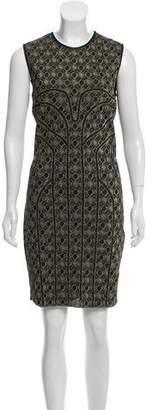 Alexander McQueen Metallic Bodycon Dress w/ Tags