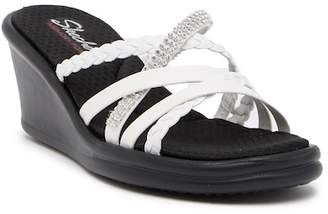 cfc2bd65f4aa ... Skechers Rumblers Wild Child Embellished Wedge Sandal