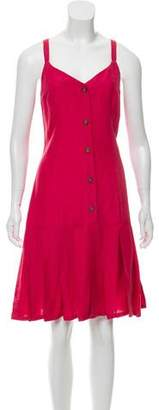 Creatures of Comfort Maribella Silk-Blend Midi Dress w/ Tags