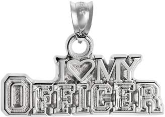 "Insignia Collection Sterling Silver ""I Love My Officer"" Pendant"