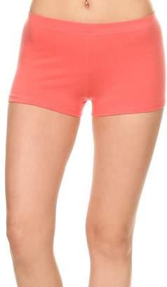 Stretch Cotton Bodysuit Women's Cotton Stretch Yoga Gym Booty Shorts Pants (S-XL)