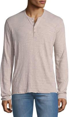 ATM Anthony Thomas Melillo Long-Sleeve Slub Henley Shirt