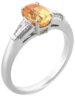 Tiffany & Co. Heritage  Platinum & 18K 1.63 Ct. Tw. Diamond & Yellow Sapphire Ring