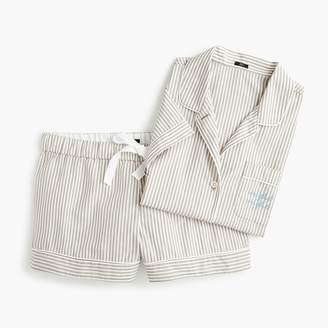 "J.Crew Pajama set in ""night night"" stripes"