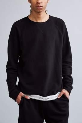 Calvin Klein Modern Cotton Lounge Crew Neck Sweatshirt $65 thestylecure.com