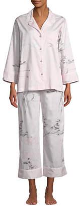 Natori Hakone Floral-Print Classic Pajama Set