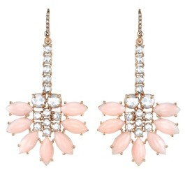 Irene Neuwirth Pink Opal | Rose Cut Diamond Earrings - Rose Gold