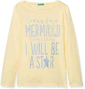Benetton Girl's L/s T-Shirt,(Manufacturer Size: X-Small)