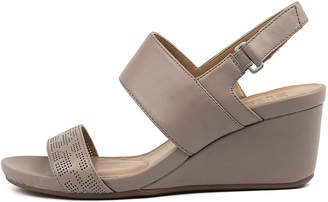 Naturalizer Callas Turtledove Sandals Womens Shoes Casual Heeled Sandals