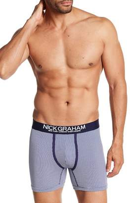 Nick Graham Fashion Basics Gingham Boxer Brief