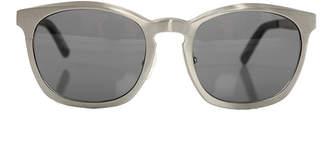Alexander Wang linda farrow x  C2 Silver Round Sunglasses