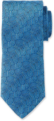 Duchamp Swirl Pattern Silk Tie